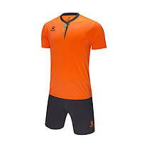 Комплект детской футбольной формы Kelme VALENCIA (оранжевый/темно-серый) - 3893047-999