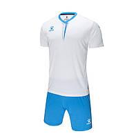 Комплект детской футбольной формы Kelme VALENCIA (белый/голубой) - 3893047-113