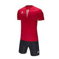 Комплект детской футбольной формы Kelme VALENCIA (красный/черный) - 3893047-610