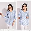 Сорочка з капюшоном в горох коттон-жатка 48-50,52-54,56-58,60-62, фото 3