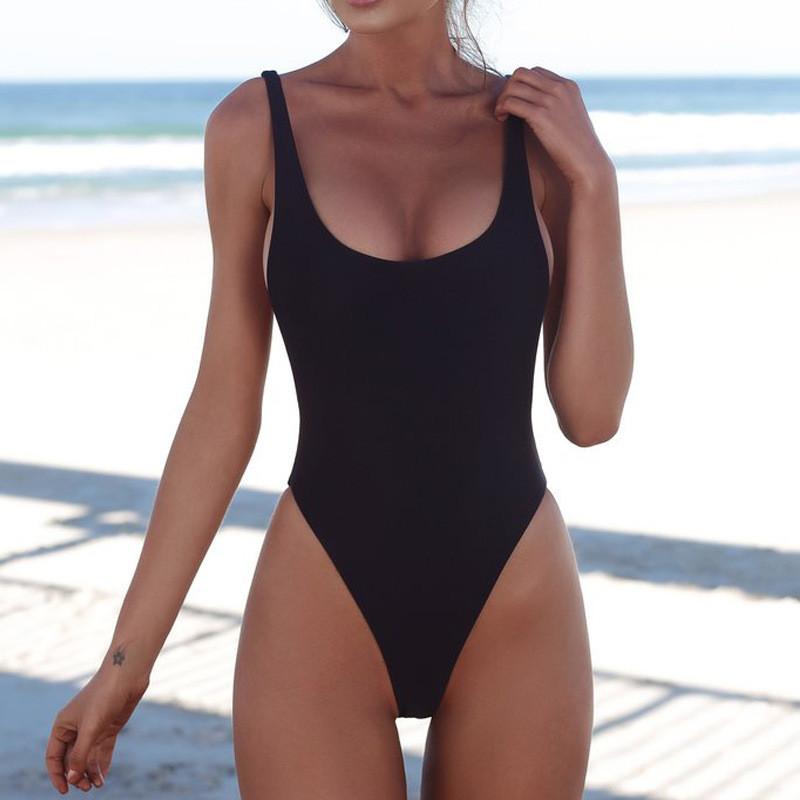 Женский слитный купальник, классический черный купальник  CC-9341-10
