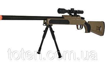 Снайперская детская винтовка 110 см  CYMA Airsoft Gun ZM51G/ZM51T, вешки, прицел, .светло зеленый