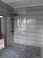 Перегородка в душ в профиле 1230 * 2800 см шторка в душ из закаленного стекла 10 мм прозрачная
