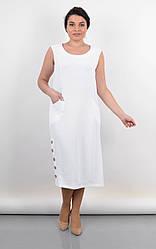 Элегантное женское платье Венера белого цвета, большие размеры
