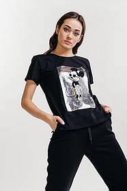 Жіноча футболка з принтом Міккі Маус