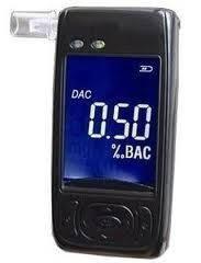 Персональний Алкотестер AAT 101-LC з напівпровідниковим датчиком,LCD дисплеєм,годинами,температурою.