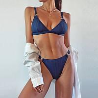 Женский раздельный купальник. синий купальник  FS-9328-50
