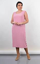 Шикарное женское платье Венера цвета пудры, размеры плюс сайз