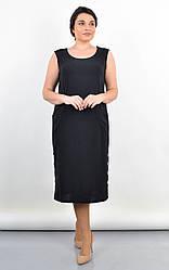 Стильное женское платье Венера черного цвета для пышных форм