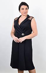 Элегантное женское платье Ребека черного цвета для пышных форм