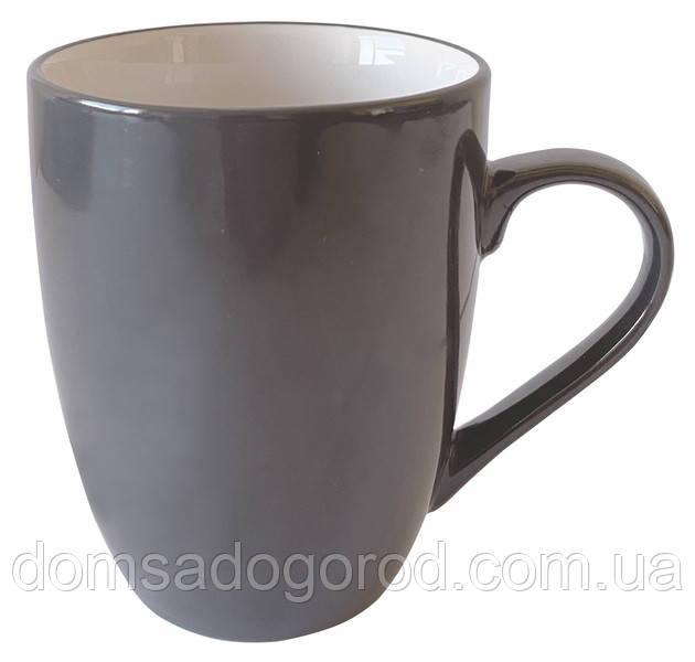 Чашка Vittora Серые листья VT-P-3320G 320 мл