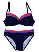 Женский раздельный купальник, синий купальник классический  FS933350