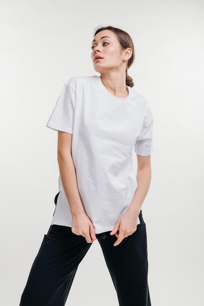 Женская удлиненная футболка с надписью Минни Маус