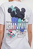 Женская удлиненная футболка с надписью Минни Маус, фото 2