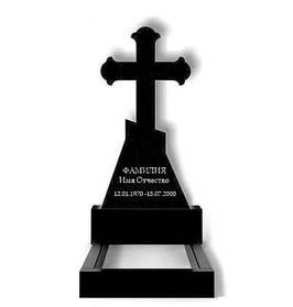 Гранітний хрест на могилу (100-50-5) Р-87