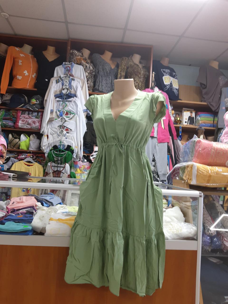 Женское хлопковое платье сарафан р.42 - 50