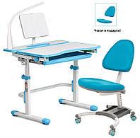 Растущая парта Cubby Fressia Blue + компьютерное кресло Blue-Grey, фото 1