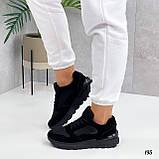 Жіночі кросівки чорні еко-замша + шкіра весна - осінь, фото 3