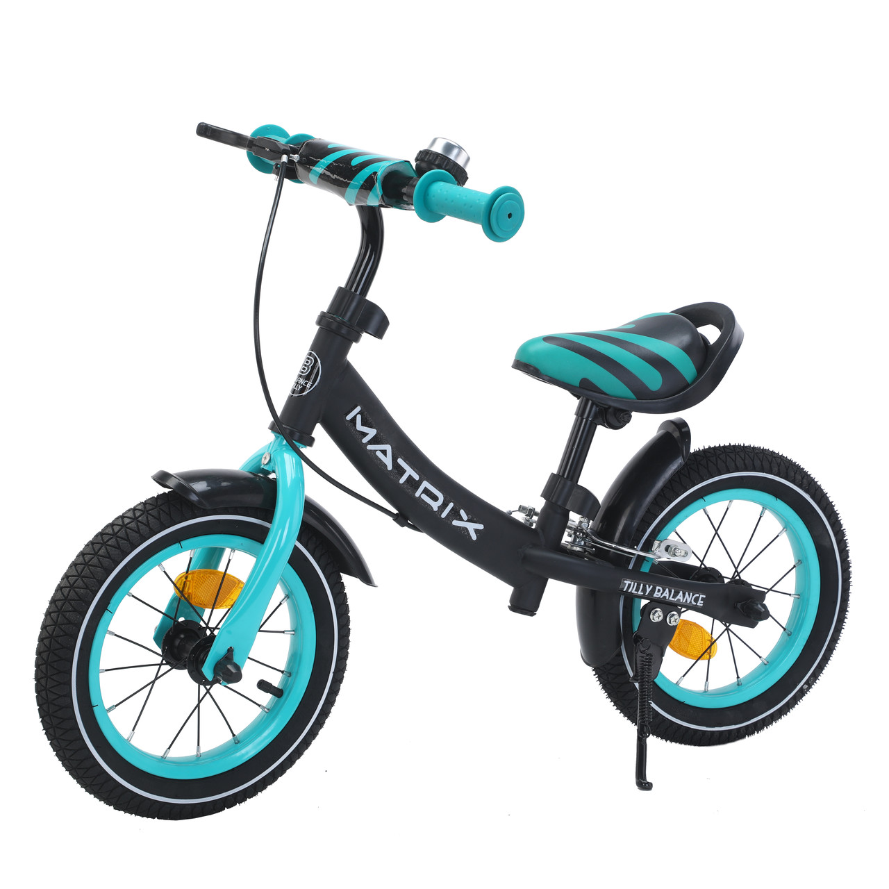 Дитячий беговел з ручним гальмом BALANCE TILLY, 12 дюймів, надувні колеса, Matrix T-21259, Azure