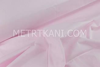 Клаптик. Однотонна польська бязь світло-рожева 86*160 см