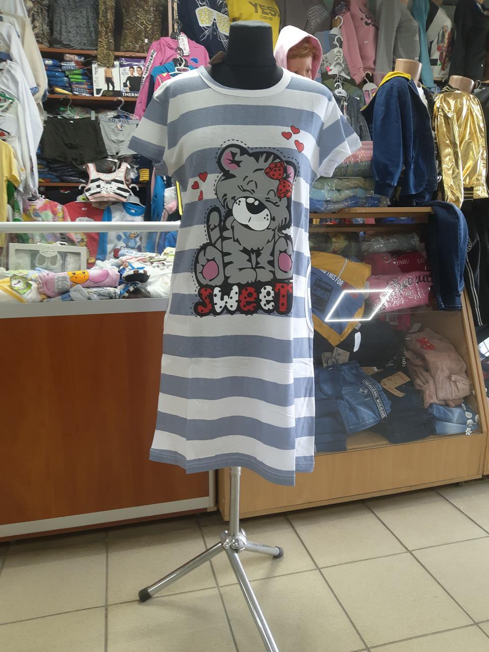Літнє жіноче плаття туніка з кишенями р. 46 - 54