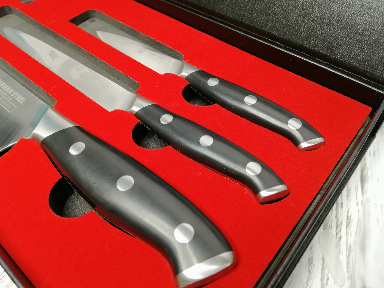 Набор кухонных ножей Gräwe из нержавеющей немецкой стали X50CrMoV15 из 3 предмета