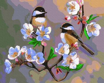Картины по номерам 40х50 см Brushme Весенние синички (GX 31723)