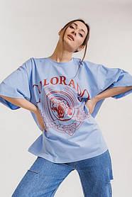Жіноча футболка оверсайз сводобная