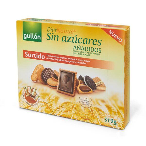 Печиво GULLON NEW без цукру Diet nature Асорті, 319 г