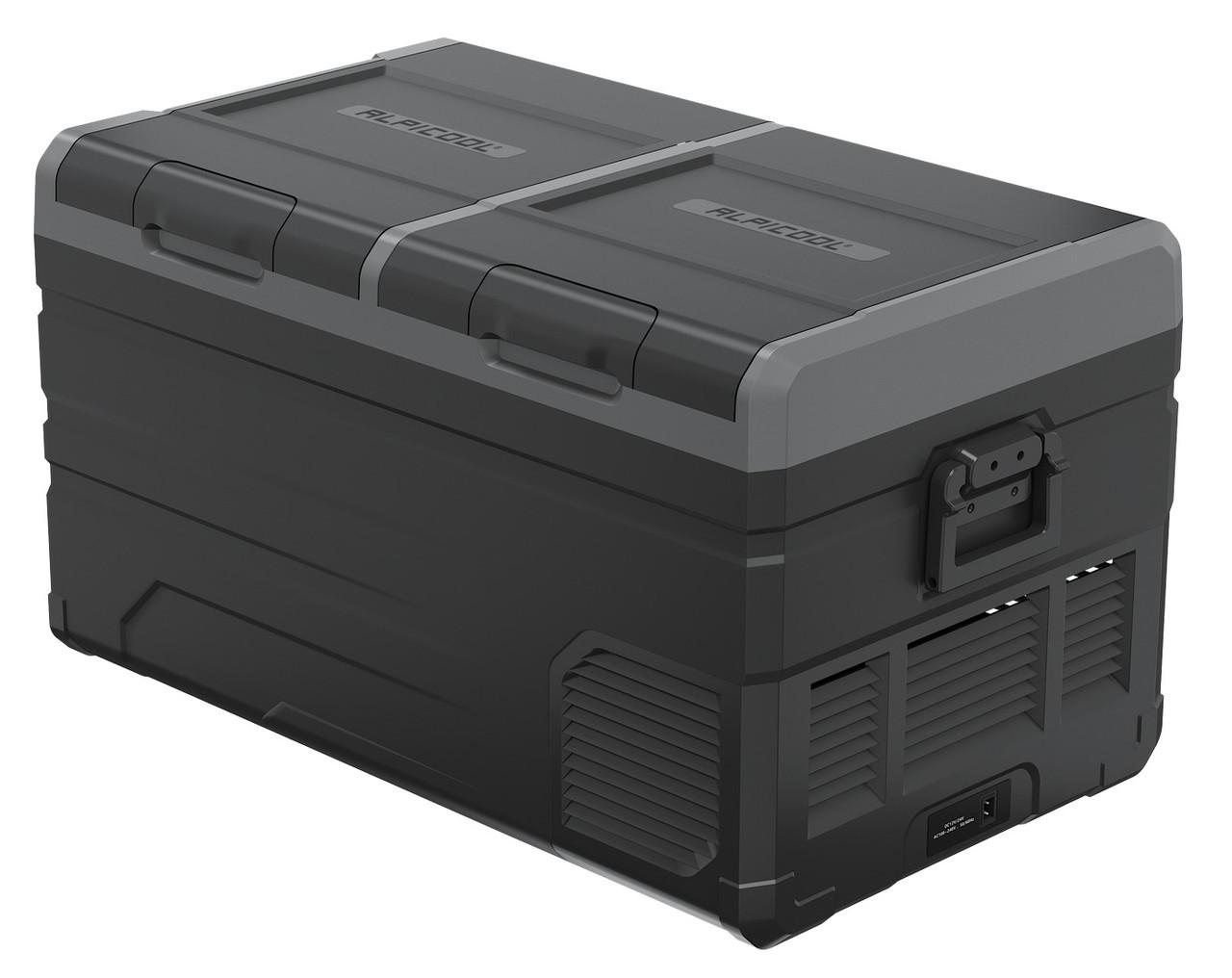 Компресорний автохолодильник Alpicool TW75. Двокамерний. Охолодження до -20℃, живлення 12, 24, 220 вольт.