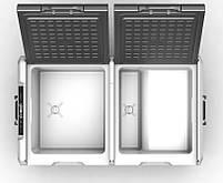 Компрессорный автохолодильник Alpicool TW75. Двухкамерный. Охлаждение до -20 ℃. Питание – 12, 24, 220 вольт., фото 5