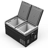 Компрессорный автохолодильник Alpicool TW75. Двухкамерный. Охлаждение до -20 ℃. Питание – 12, 24, 220 вольт., фото 3