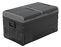 Компрессорный автохолодильник Alpicool TW75. Двухкамерный. Охлаждение до -20 ℃. Питание – 12, 24, 220 вольт., фото 2