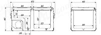 Компрессорный автохолодильник Alpicool TW75. Двухкамерный. Охлаждение до -20 ℃. Питание – 12, 24, 220 вольт., фото 8