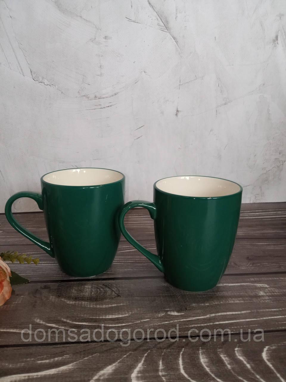Чашка Vittora Бірюзові листя VT-P-3320Т 320 мл