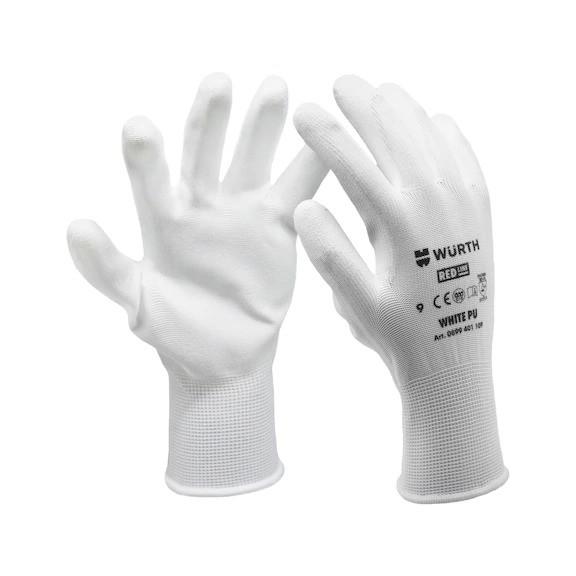 Перчатка робоча White Pu WURTH