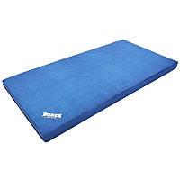 Мат спортивний гімнастичний BOXER Для тренувань акробатики 2 х 1 мШкірвініл Синій (1009-02)