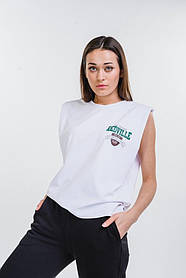 Жіноча футболка без рукавів з плічками