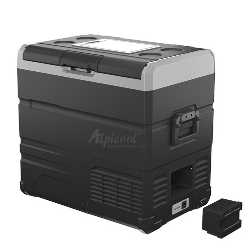 Компресорний автохолодильник Alpicool TW55. Двокамерний. Охолодження до -20℃, живлення 12, 24, 220 вольт.