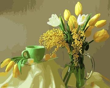 Картины по номерам 40х50 см Brushme Желтые тюльпаны (GX 9245)