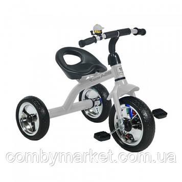 Детский трехколесный велосипед Lorelli A28 серый