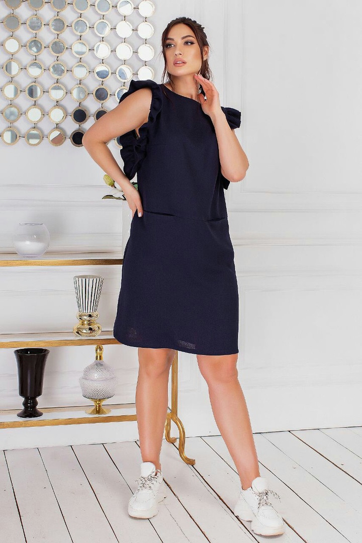Женское льняное платье большого размера.Размеры:50/54+Цвета