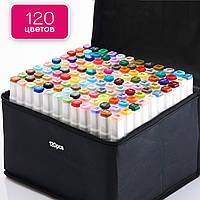 Маркеры TOUCH Multicolor 120 цветов, набор профессиональных двухсторонних маркеров для скетчинга