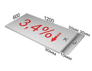 XPS CARBON SLOPE 3,4% элемент K Утеплитель клиновидный Карбон экструдированный пенополистирол