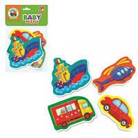 М'які пазли VT1106-57,Baby puzzle Vladi toys VT1106-57,пазли транспорт VT1106-57