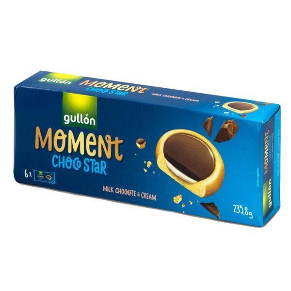 Печиво GULLON MOMENT ChocoStar, з молочним шоколадом, 235 г