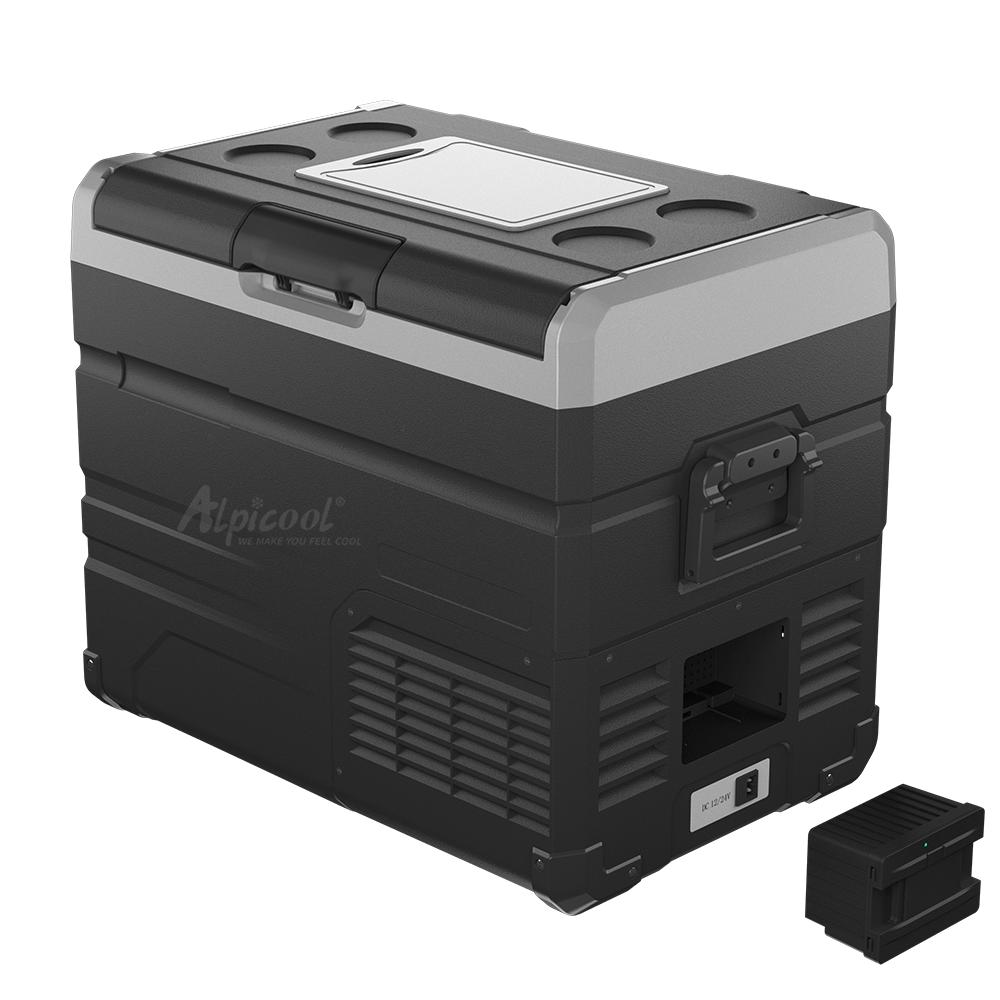Компресорний автохолодильник Alpicool TW45. Двокамерний. Охолодження до -20℃, живлення 12, 24, 220 вольт.