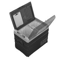 Компресорний автохолодильник Alpicool TW45. Двокамерний. Охолодження до -20℃, живлення 12, 24, 220 вольт., фото 6