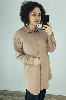 Рубашка женская бежевая TRG 130413M