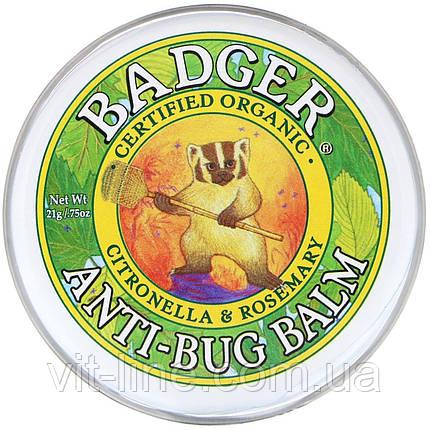 Badger Company, Бальзам для защиты от насекомых с цитронеллой и розмарином, 21 г, фото 2